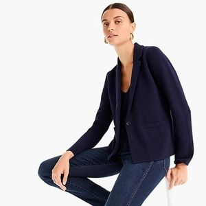 J Crew Margot cropped single button sweater Blazer